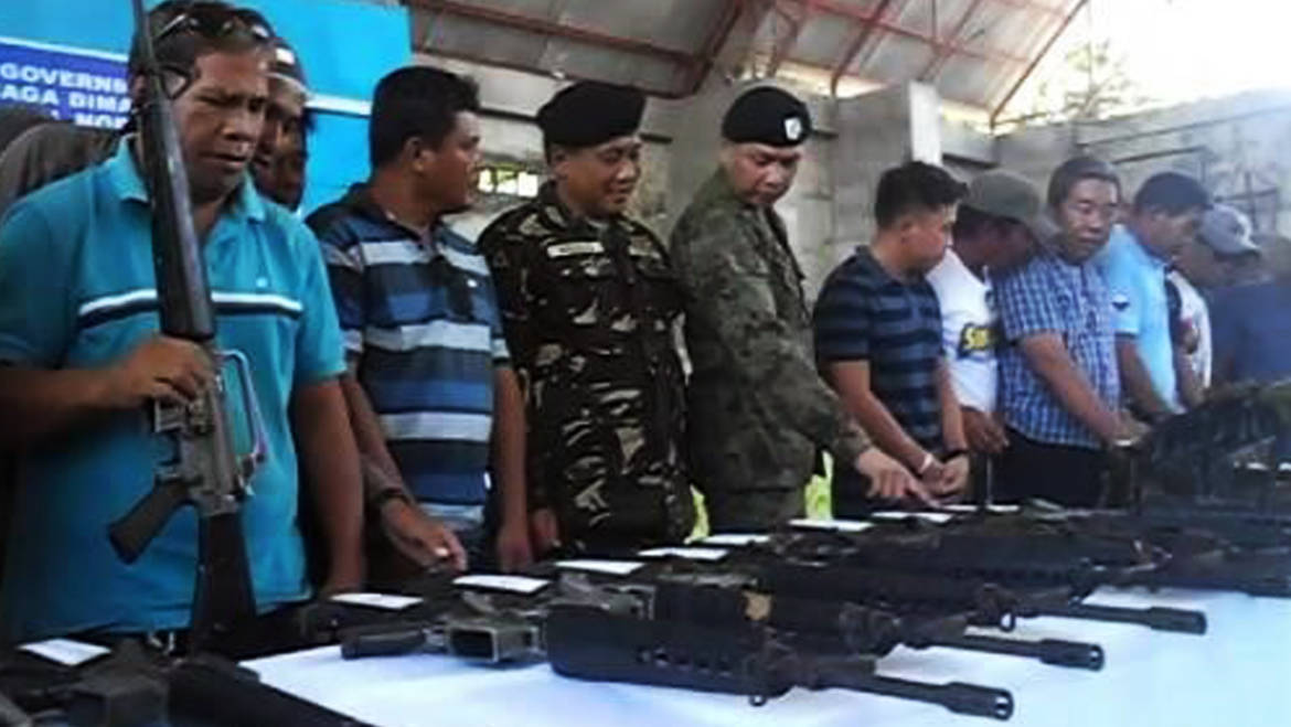 PEACE CAMPAIGN  |  SND folks turned-over 52 loose firearms to AFP